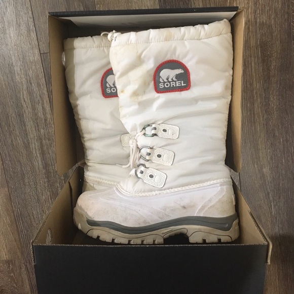 White Sorel Winter Boots